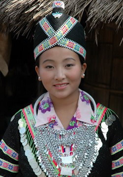 Hmong woman in costume