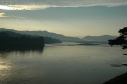 View into Laos across the Mekong.